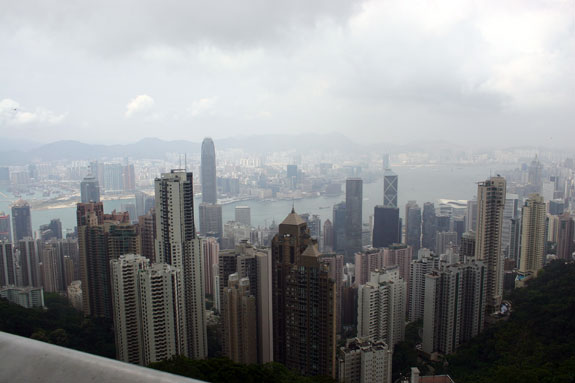 Hong Kong viewed from The Peak.